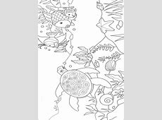 Underwater World Coloring Pages For Kids. Print and Color