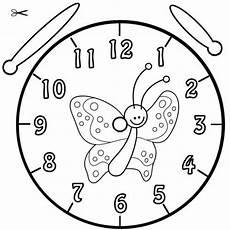 Malvorlage Uhr Lernen Kostenlose Malvorlage Uhrzeit Lernen Ausmalbild