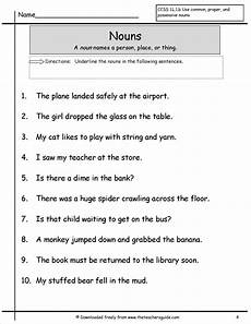 worksheets about nouns wonders second grade unit two week one printouts