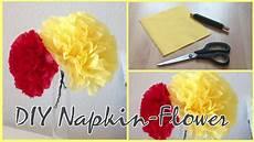 blumen aus servietten basteln diy easy napkin flower