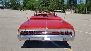 1964 Chevy Impala SS 2 Door Convertible 70k Miles Red