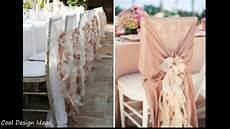 diy simple wedding chair decorations youtube