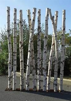 bois bouleau deco paravent en troncs de bouleaux chez www deco nature