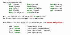 comparatif en allemand cours de allemand 3e les degr 233 s de l adjectif