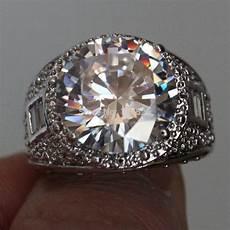aliexpress com buy choucong men s cut stone 5a zircon stone 10kt white gold filled
