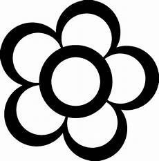 Gambar Bunga Kartun Hitam Putih 5 Kelopak Bunga