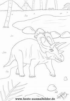 Ausmalbilder Dinosaurier Triceratops Dinosaurier Ausmalbild Kostenlose Vorlage Eines