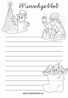 wunschzettel weihnachten ausmalbilder weihnachten