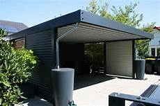 Carport Mit Schuppen Metall - design metall carport aus stahl holz blech glas