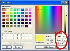 hex color codes from ms paint find hex code for any color using ms paint color rgb values color picker