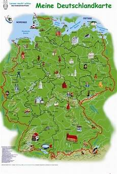 Kinder Malvorlagen Deutschlandkarte Germany Maps For Children Kinderpostershop De