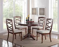 5pc pedestal cherry finish kitchen dining room table chairs ebay
