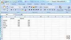 comment calculer sur excel faire des calculs avec la somme automatique dans excel