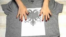 Diy T Shirt Selbst Bedrucken Mit Shqiponje Muster