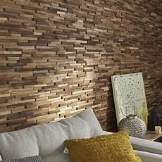 revetement bois interieur plaquette de parement bois recycl 233 marron boho leroy merlin