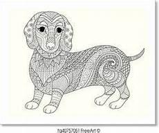 kostenloses ausmalbild hund dackel die gratis mandala
