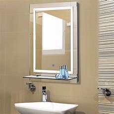 badezimmerspiegel mit ablage kleankin led badezimmerspiegel mit glas ablage real