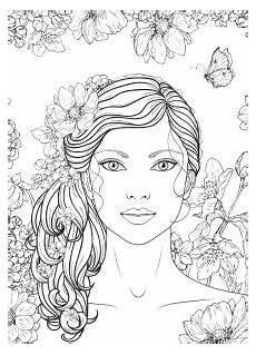 gesicht zum ausmalen coloring page flowers digital coloring page