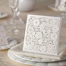 10 petals laser cut wedding invitations diy wedding