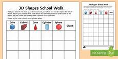 shapes worksheets eyfs 1093 3d shapes school walk worksheet worksheet ni ks1 numeracy 3d shapes