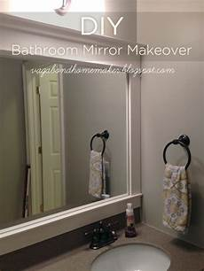 bathroom mirror makeover the vagabond homemaker diy bathroom mirror makeover