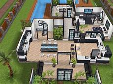 sims freeplay house floor plans house 77 ground level sims simsfreeplay simshousedesign