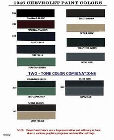 auto paint codes chevrolet paint codes 1946 1954 color