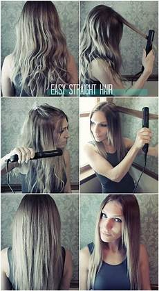 easy straight hairstyles for how to straighten hair