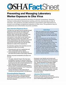 new osha fact sheet available on protecting workers in