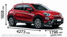 dimension fiat 500x dimensions of fiat cars showing length width and height