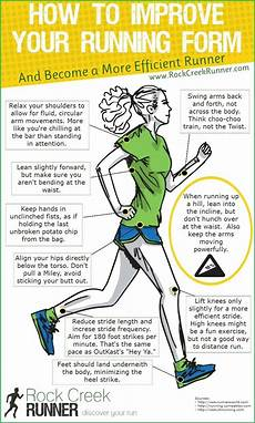 how to improve your running form infographic rock