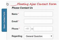 floating ajax based contact form sanwebe