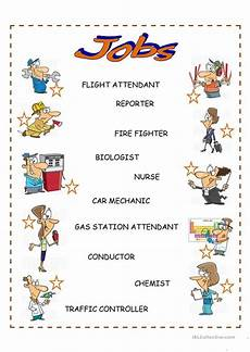 and occupations english esl worksheets