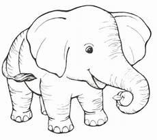 ausmalbilder zum drucken malvorlage elefant kostenlos 2
