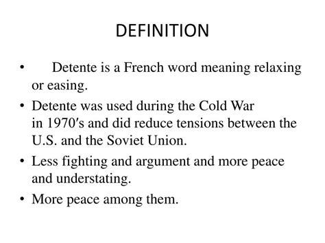 Define Detente