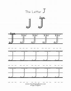 letter tracing worksheets j 23894 practice worksheet for writing the letter j with several connect the dot writing