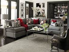wohnzimmer rot grau i the grey with pops of color and accents