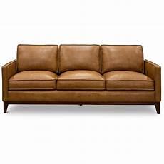Mid Century Modern Leather Sofa Set mid century modern camel brown leather sofa newport rc