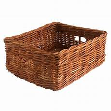 Basket Storage by Oblong Wicker Storage Basket In 2 Sizes