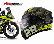 Modif Helm Yamaha by Modif Striping Yamaha R15 Helm Kyt Vendetta Andrea