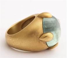 pomellato vintage vintage pomellato gold aquamarine and ring for
