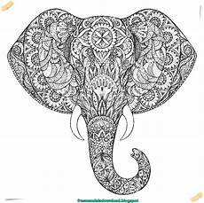 malvorlage elefant mandala coloring and malvorlagan