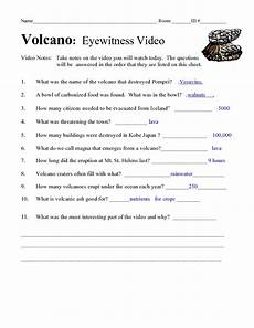volcano eyewitness video worksheet for 5th 10th grade lesson planet