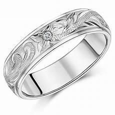 engagement ring titanium wedding ring engraved