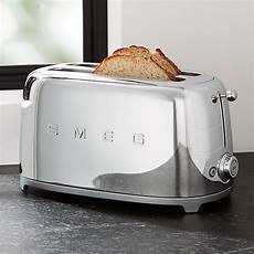 smeg toaster günstig smeg silver 4 slice retro toaster reviews crate and barrel