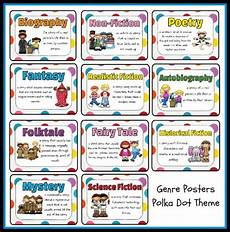 children s books genres list types of genres genres poster set polka dot theme printable worksheet with answer