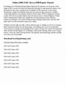 car repair manuals online pdf 2004 gmc sierra 1500 instrument cluster 2004 gmc sierra 3500 repair manual online by kim scotfield issuu
