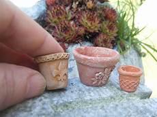 Miniature Flower Pot Tutorial Pot De Fleurs Miniatures