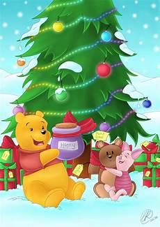 winnie the pooh christmas by rainbowrose912