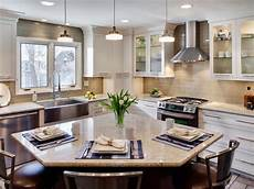 warm contemporary kitchens hgtv